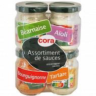 Cora quadrette de sauces en bocal verre  4 x 85gr