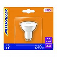 Attralux ampoule led GU10 équivalent 35 watts