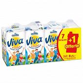 Viva lait vitaminé brique 7x1l + 1 brique offerte