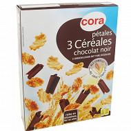 Cora pétales 3 céréales chocolat noir 300g