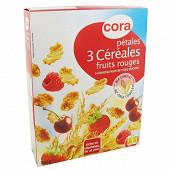 Cora pétales 3 céréales fruits rouges 300g