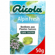Ricola alpin fresh sans sucres boîte de 50g
