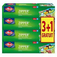 Sacs zipper x8 mm 3L lot 3+1 offert