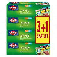 Albal sacs zipper x12 pm 1L lot 3+1 offert