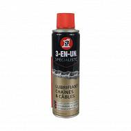 3en1 lubrifiant chaines et cables au ptfe 250 ml