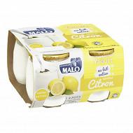 Malo yaourt sucré au lait entier citron 4x125g