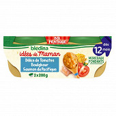Blédina bols IDM tomate boulghour saumon origan 2x200g dès 12 mois