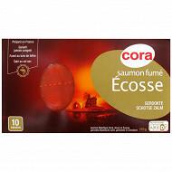 Cora saumon fumé d'Ecosse 10 tranches 375g