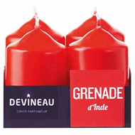 Devineau bougies x4 grenade d'inde