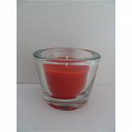 Cora bougie rouge petit modèle verre épais