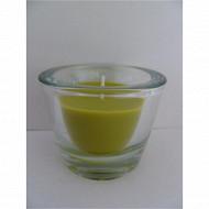 Cora bougie vert petit modèle verre épais