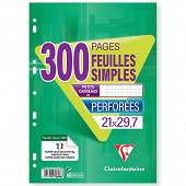 Clairefontaine feuilles simples 21x29.7 cm 200 pages + 100 offertes 5x5