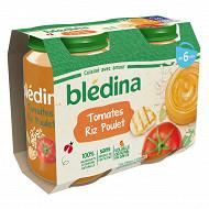 Bledina Pots Tomates Riz Poulet 2X200G 6 mois