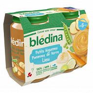 Bledina Pots Petits Legumes Pommes de Terre Colin (Lieu) 2X200G 6 mois