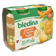 Bledina Pots Sales Jardiniere De Legumes Poulet 2X200G 8mois