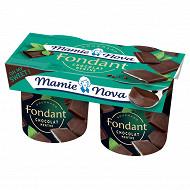 Mamie Nova dessert lacté au chocolat et à la menthe 2x150g