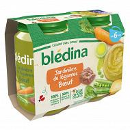 Bledina pots salés jardinière de légumes boeuf 6 mois 2x 200g