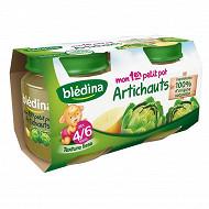 Bledina Pots Artichauts 2X130G 4/6 mois