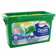 Cora lessive doses hydrosolubles 20x24.5ml 20 lavages