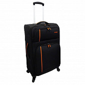 Trolley souple 61 cm Cora noir/orange