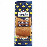 Pasquier pains chocolat x 8 emballage individuel 360 g