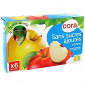 Cora gourdes purée de pomme sans sucres ajoutés 6 x 90g