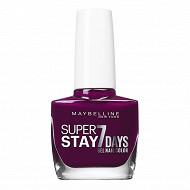 Gemey maybelline vernis à ongles Tenue&Strong N°270 ever burgundy NU logo alarm
