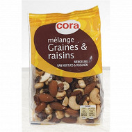 Cora mélange de graines et raisin 250g