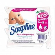 Soupline concentrée recharge hypoallergique 3x200ml