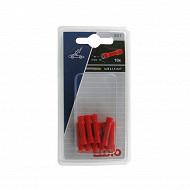 Eloto 10 prolongateurs isolés rouges d.4