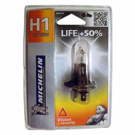 Michelin ampoule H1 life +50% 55 watts