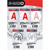 B-car disque à adhésif conducteur débutant