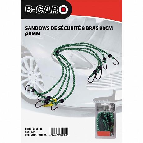 B-car sandows de sécurité 8 bras 80cm