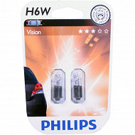 Philips 2 ampoules h6w 12 volts