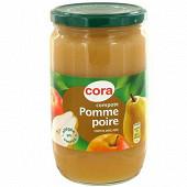 Cora compote tamisée pomme poire allégée 710gr