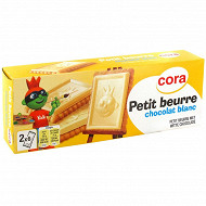 Cora petit beurre tablette chocolat blanc 150g