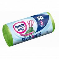 Handy bag sacs poubelle x8 devor odeur 50l