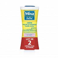 Mixa Bébé crème pour le change 2x100ml