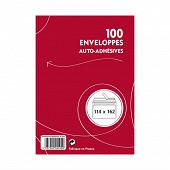 100 enveloppes auto adhésives 114x162 mm