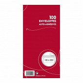 Enveloppes x 100 auto adhésives 110x220 mm