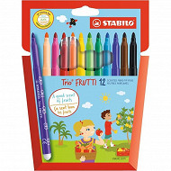 Stabilo - Etui carton 12 feutres trio frutti
