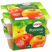 Cora compote de pomme allégée en sucres 8 x 100g