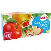 Cora gourdes purée de pommes sans sucres ajoutés 12 x 90g