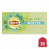 Lipton thé vert menthe 30 sachets 48g