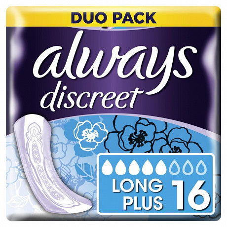 Always discreet serviettes incontinence long plus X16