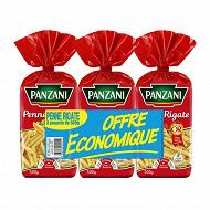 Panzani pâtes fantaisie penne 500g x 3 offre économique