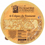Patrimoine gourmand crêpes de froment x6 240g