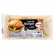 Cora pains carrés burger x4 330g