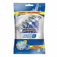 Wilkinson rasoirs jetables extra 3 essentials x8