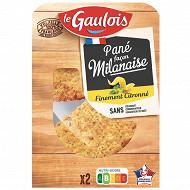 Le Gaulois panés milanaise finement citronnés 200g
